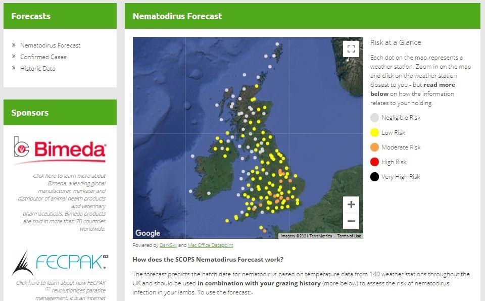 SCOPS Nematodirosis forecast